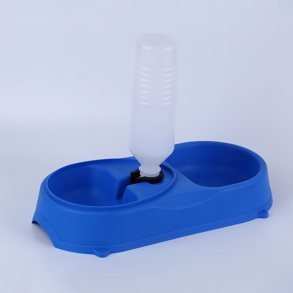 Durable automatic plastic double dog water bowl