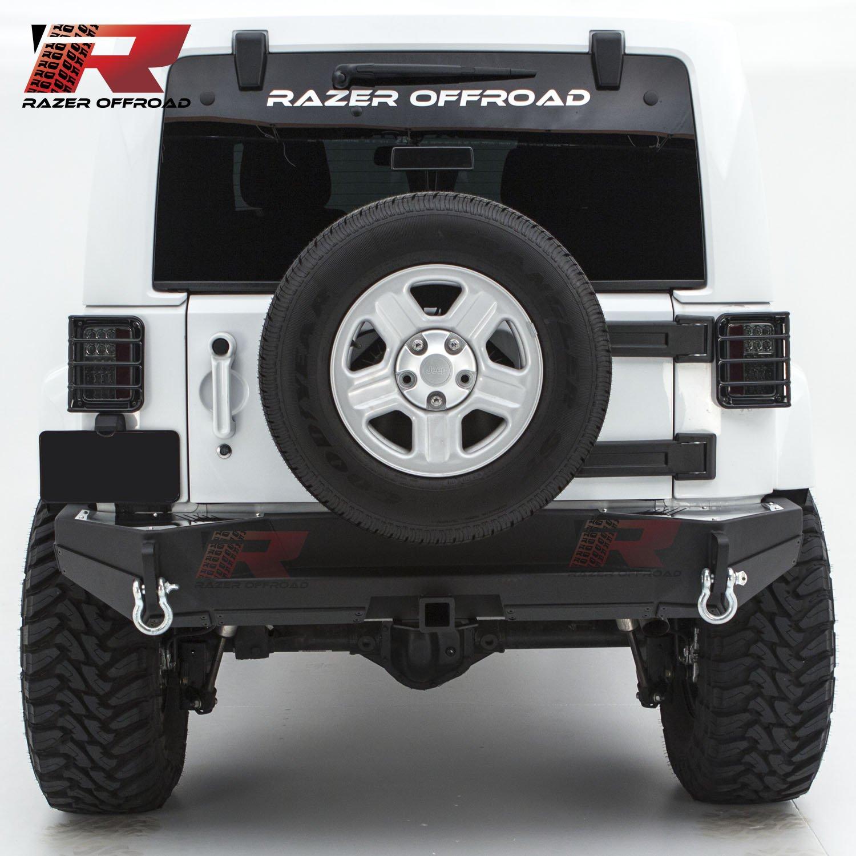 Cheap Rock Crawler Jeep Wrangler Find Jk Rear Sub Get Quotations Razer Auto 07 17 Bumper W Two 475