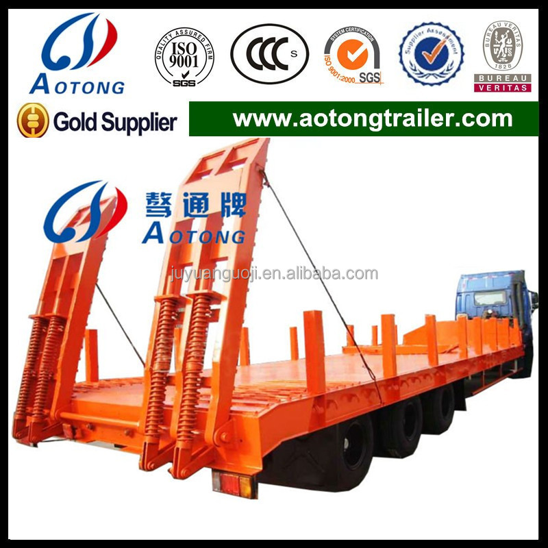 China Supplier 3 Axles Lowboy Semi Truck Trailers/low Bed Semi ...