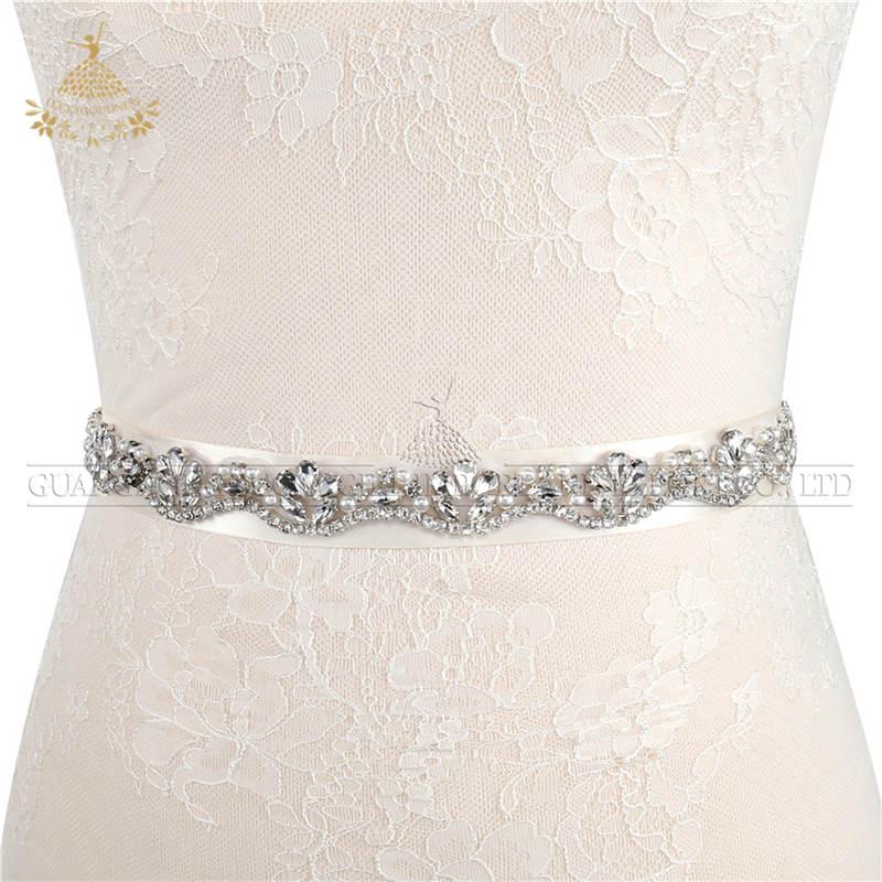 Handgemaakte Naaien Parels Voor Bruidsjurk Voor Bridal Rhinestone Patch Riemen