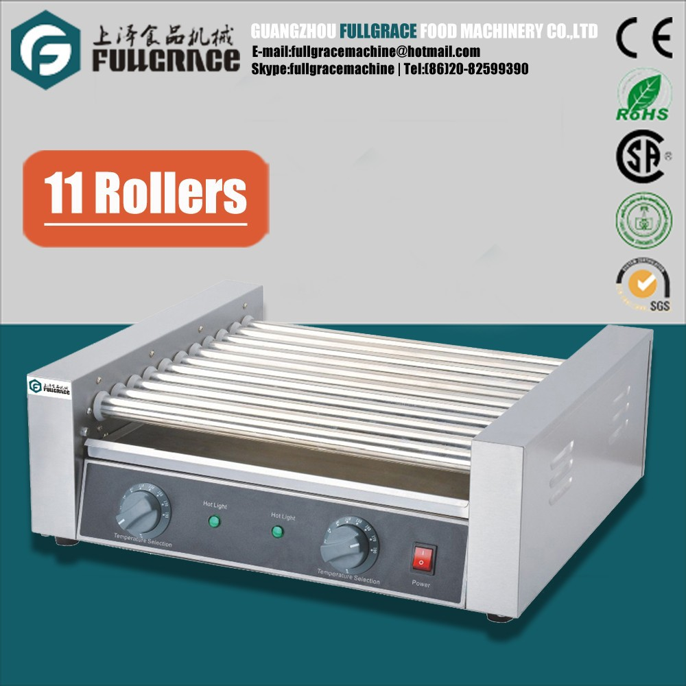 hot sale commercial 11 rollers double temperature control sausage grill FG-SEH05E