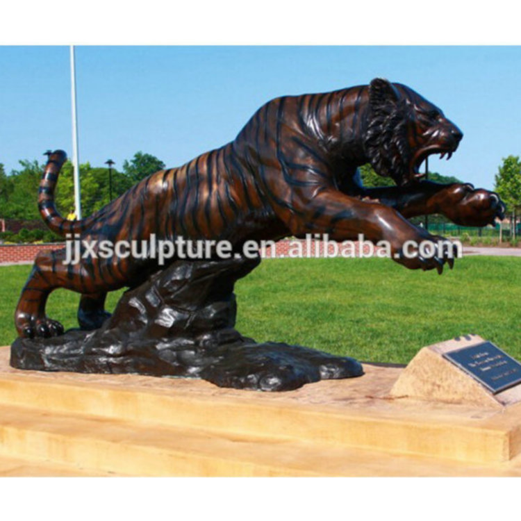 garden large bronze animal sculptures big tiger statue