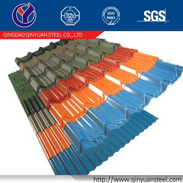 18 Gauge Corrugated Color Coated Galvanized Steel Sheet Colour Sheet ...