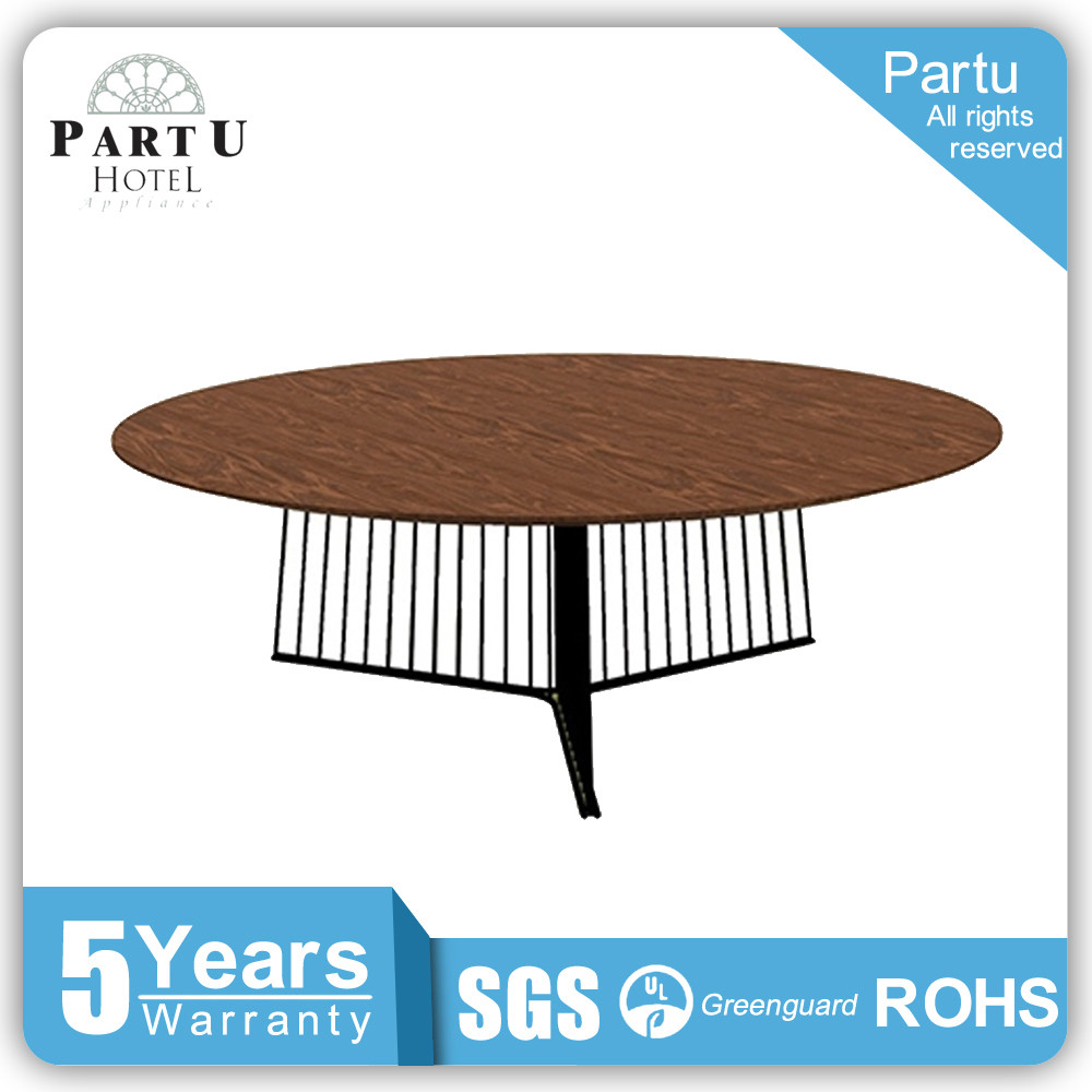 Partu Black Painted Steel Structure. Glass Or Wood Table Top Extension Tempered Glass Round Dining Table