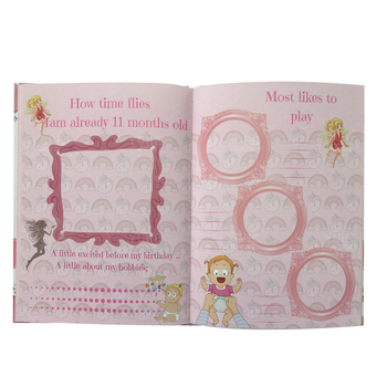 2019 best selling new design baby first year keepsake memory record book manufacture in China