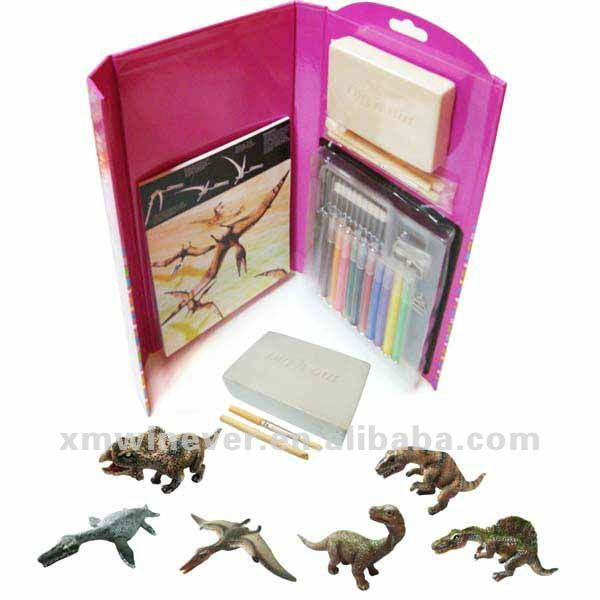 Dinosaur drawing Book with Excavation toy kits