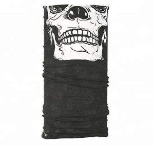 Qetesh Multifunctional Seamless Skull Face Mask Tube Bandana