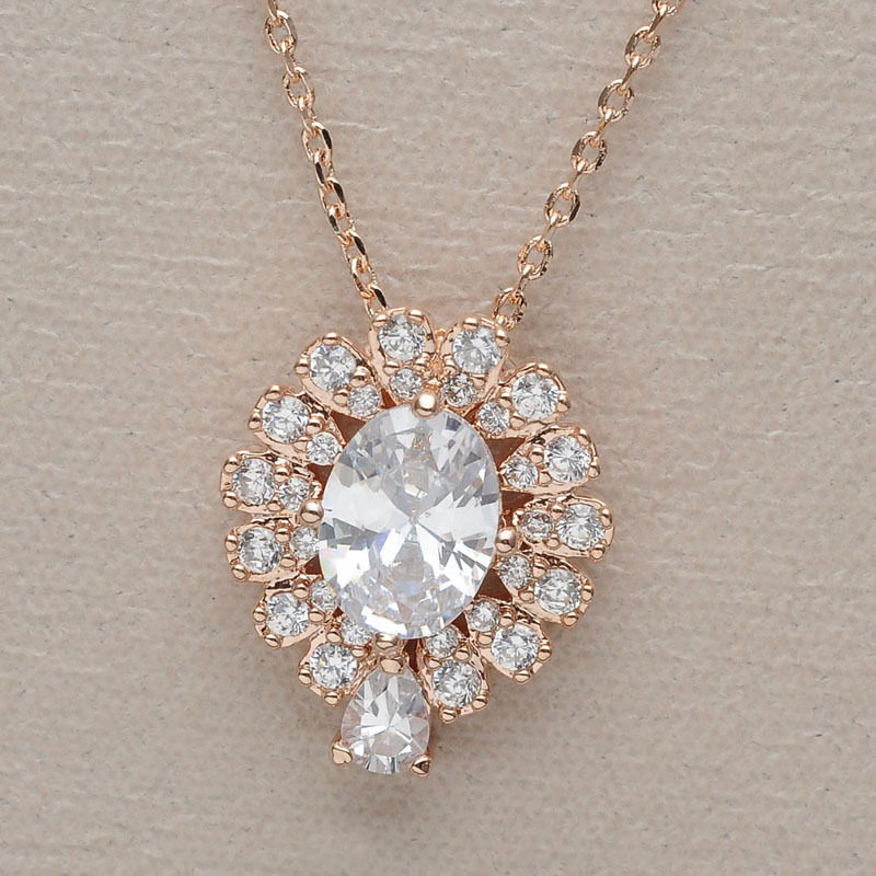 set bridal women for zirconia jewelry and plated teardrop cwwzircons costume cz from in necklace diamond luxury decoration item wedding sets earrings big white gold