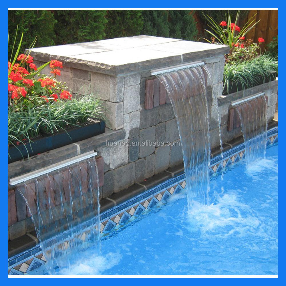 Cascadas de agua para piscinas otros decoraciones de for Accesorios para piscinas cascadas