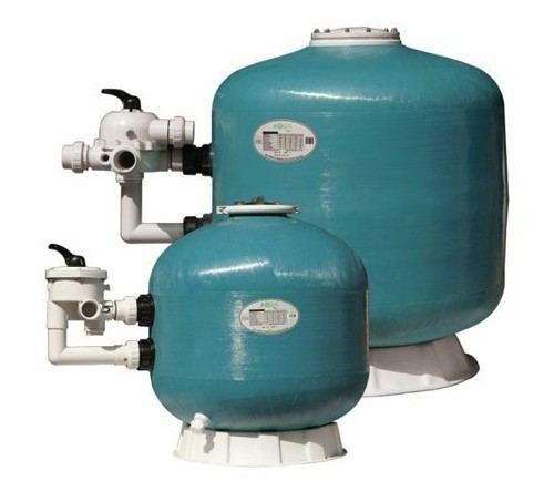 side mount fiberglass swimming pool sand filter tank