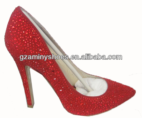 shoes Pointed crystals women toe 2014 ArEqAZwx