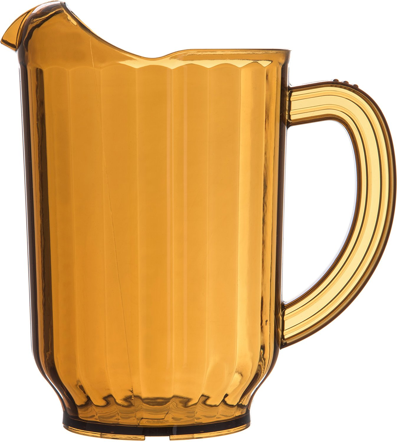 "Carlisle 554013 60 oz Capacity, 3.62"" Base Diameter x 8.25"" Height, Amber Color, Polycarbonate VersaPour Pitcher"