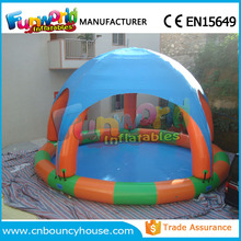 Inflatable water pool plastic swimming pools with Roof