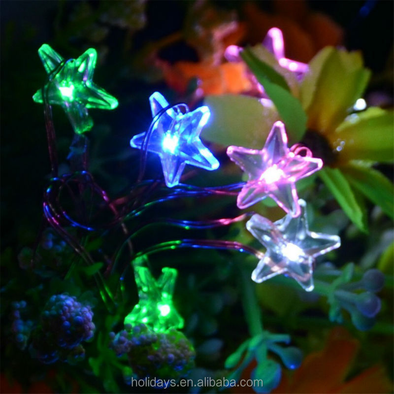 Cooper Wire Battery Operated Star Led Christmas Lights
