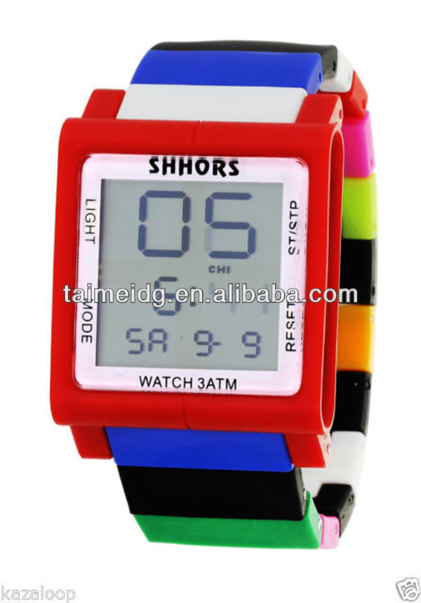 bulk buy from China mix colors rainbow slap watch