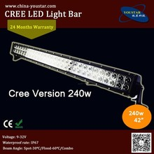 40 inch 50 inch 42 inch c.r.e.e led off road motorcycle headlight with side mount bracket high lumens 240w curved light bar