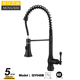 Black ORB Kitchen Faucet Spring Pull Out Kitchen Tap Hot & Cold Water Tap