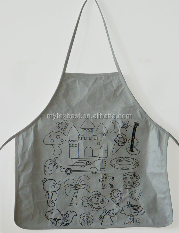 Durable cheap price with painting pen diy coloring kids apron