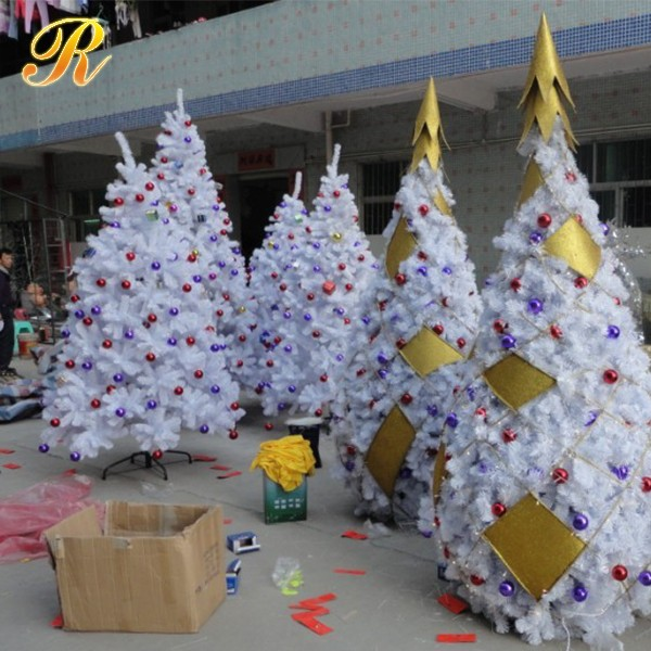 Large Metal Frame Christmas Tree White Christmas Tree For Outdoor