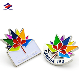 Longzhiyu 12years Fast Delivery Custom Canada Soft Enamel Metal Crafts Maker Lapel Pin Badge