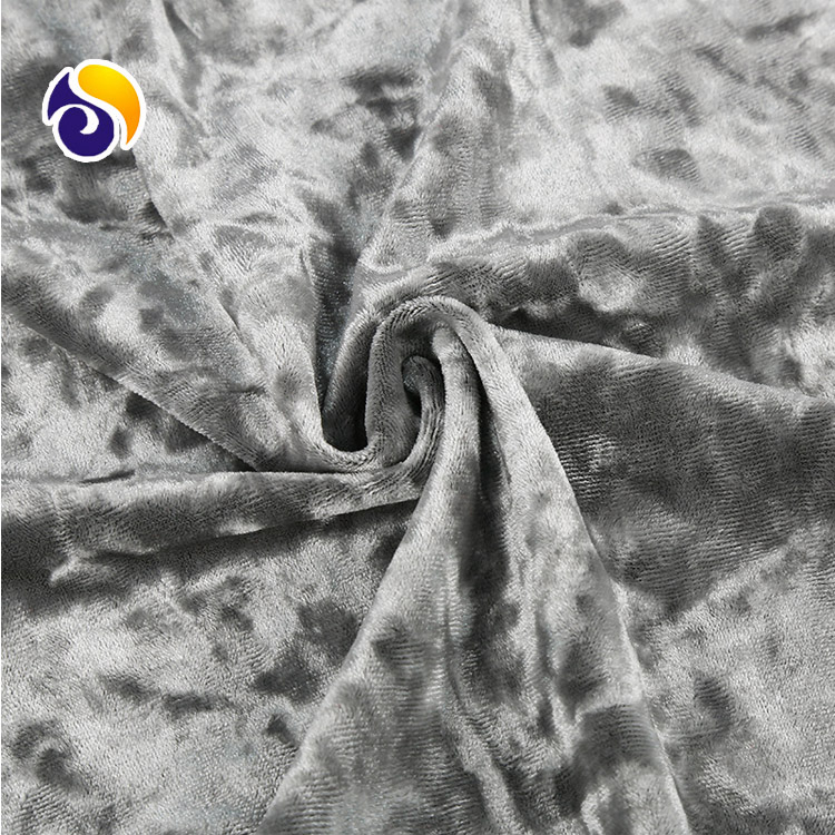 Chinese Factory  Sale Customized Polyester Shiny Ice Crushed Velvet Curtain Garment Dress Fabric