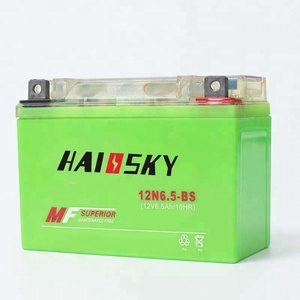 Haissky 12N6.5-BS 12v 6.5ah mf electric motorcycle battery pack for kawasaki z750