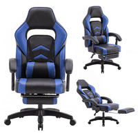Cheap hot sale top quality reclining gaming office chair with footrest
