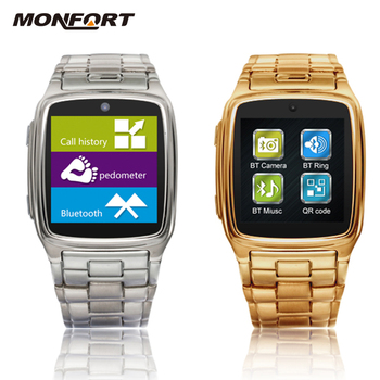 a7471f05c98 waterproof Touch screen bluetooth pedometer android and IOS for apple smart watch  mobile phone