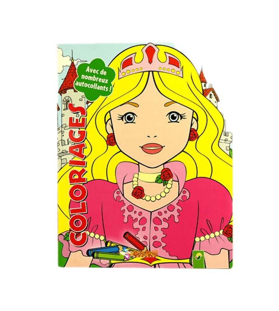 Creative Doodle Coloring Book Print Books Coloring Pages- Crown Girl