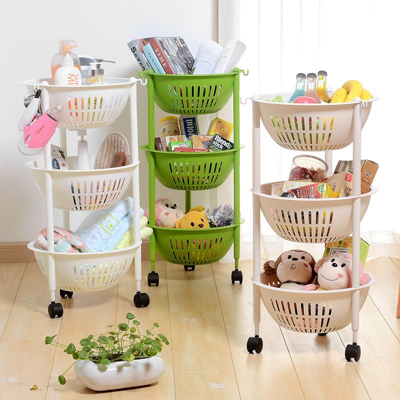 Homeware folding bath kitchen laundry room storage organizer removable plastic shelf with Handle