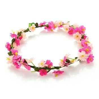 Factory Custom Girl Headband Women Flower Tie Back Halo Flower Crown ... ac20ac475c2