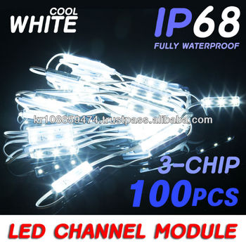 kpl] Cool White 3 Chip Led 5050 Smd Module Business Channel Sign ...