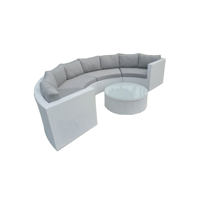 Garden Outdoor Pe Rattan Sofa Curved