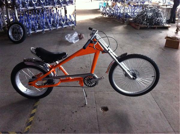 Red Adult Chopper Bike Chopper Bicycle Steel Frame 24