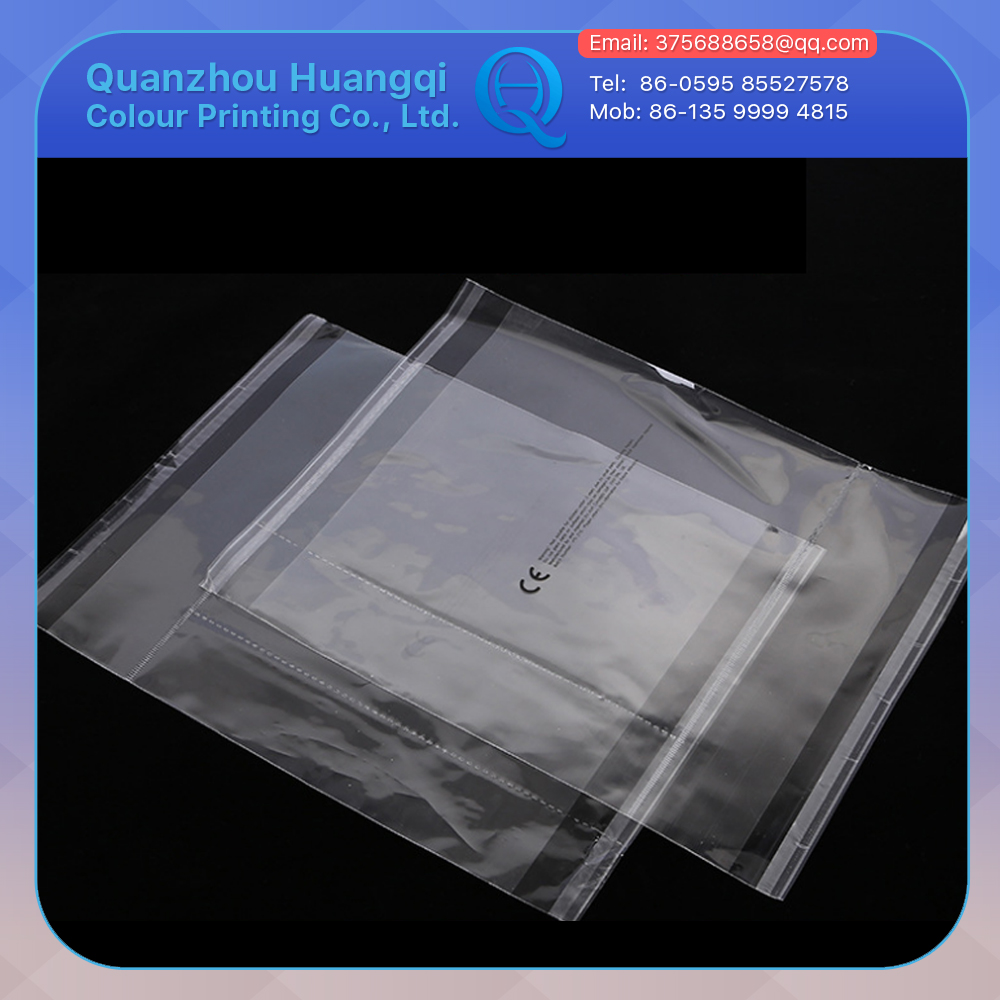 food grade transparent self adhesive sealed opp packaging plastic bags supplier malaysia