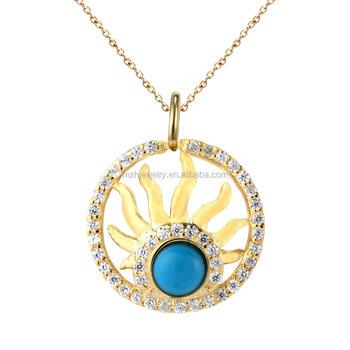 High quality sun shape turquoise stone pendant for jewelry making high quality sun shape turquoise stone pendant for jewelry making supplies wholesale china aloadofball Gallery