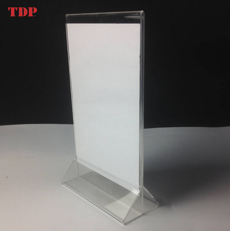 4x6 a4 size plastic acrylic table stand menu display holder a5 size acrylic menu holder