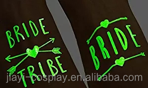 Glow In The Dark - Bride Tribe Temporary Tattoos For Bachelorette Party