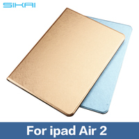 For ipad Air 2 Soft Flip Leather Cover With Auto Sleep /Wake Up Function Smart Cover For ipad Air 2