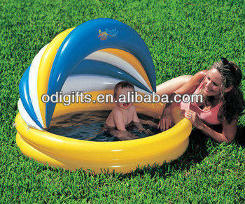 Baby Infant Inflatable Canopy Swim Swimming Cover Shaded Pool Buy Inflatable Baby Swimming