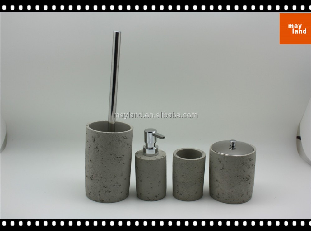 Beton Accessoires concrete bathroom accessories set with beton bath lotion