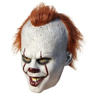 Stephen King's It Pennywise Mask Latex Halloween Scary Mask Cosplay Clown Party Mask Prop QMLM-2003
