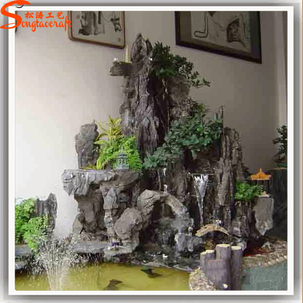 supplier artificial waterfall rocks indoor waterfall fountains available for export