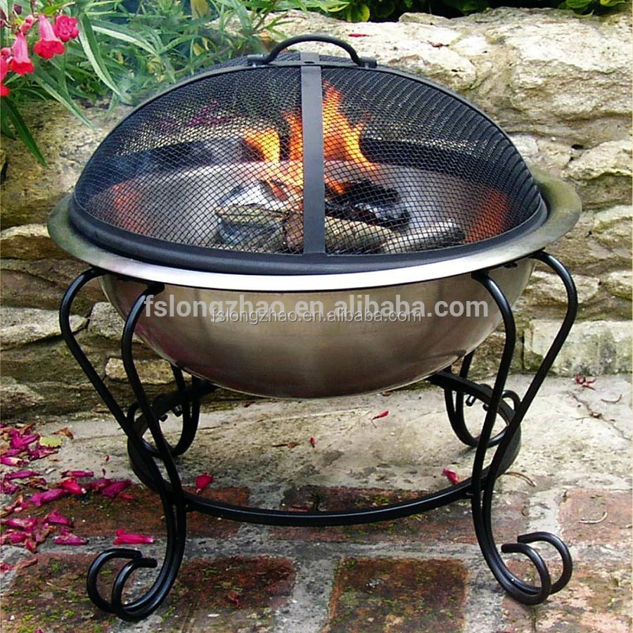 Cast iron wood burning outdoor fireplace chiminea fire pit for Buy outdoor fire pit