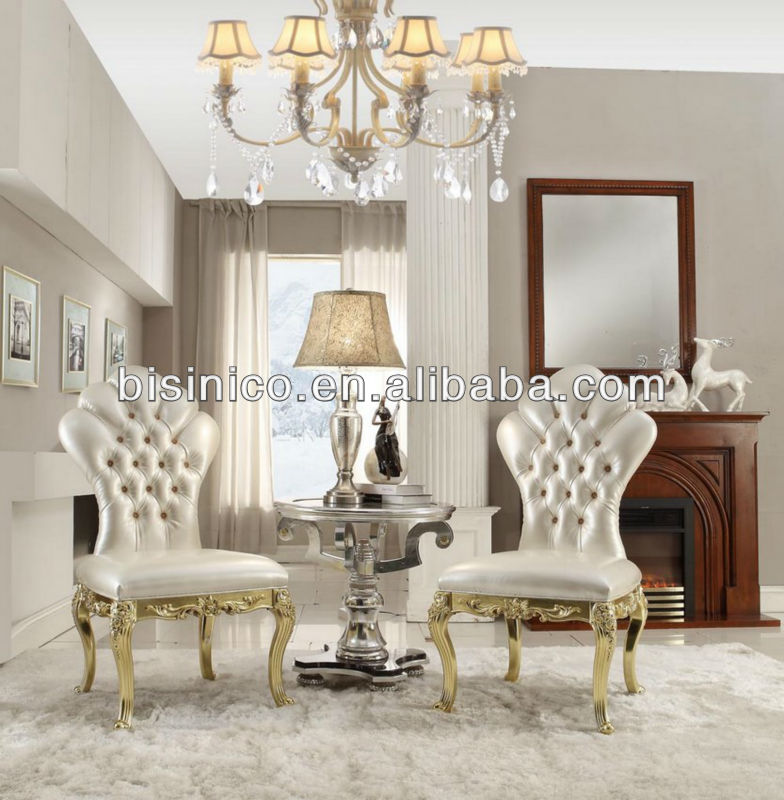New Classical Living Room Furniture Set,Victorian Series,Wing Chairs &  Small Coffee Table,White&gold Color,Elegant And Royal - Buy Victorian Style  ...