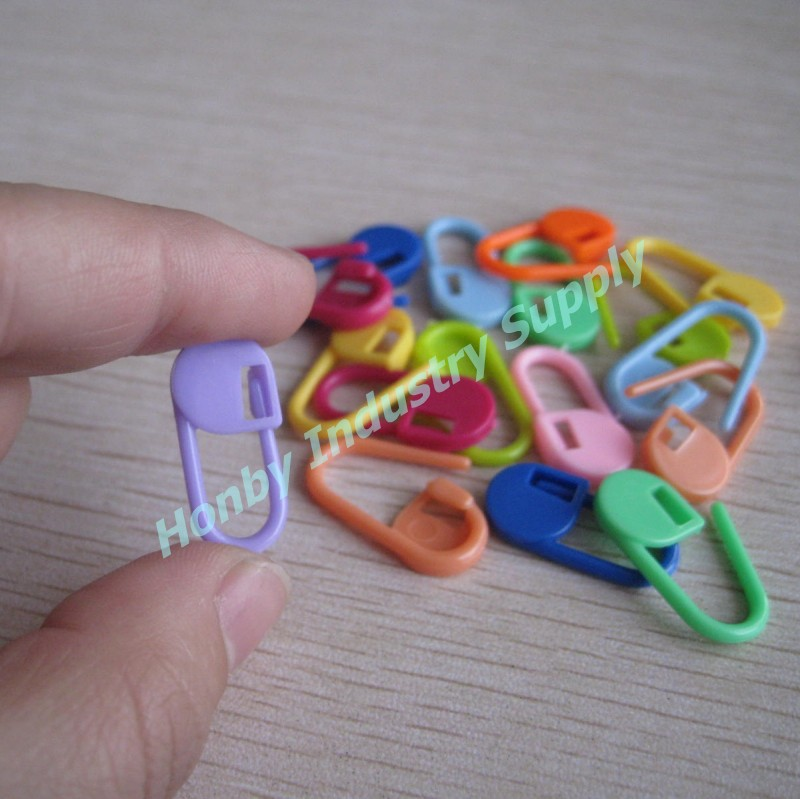 Coloured 22mm No Coil Knitting Plastic Safety Pin Marker