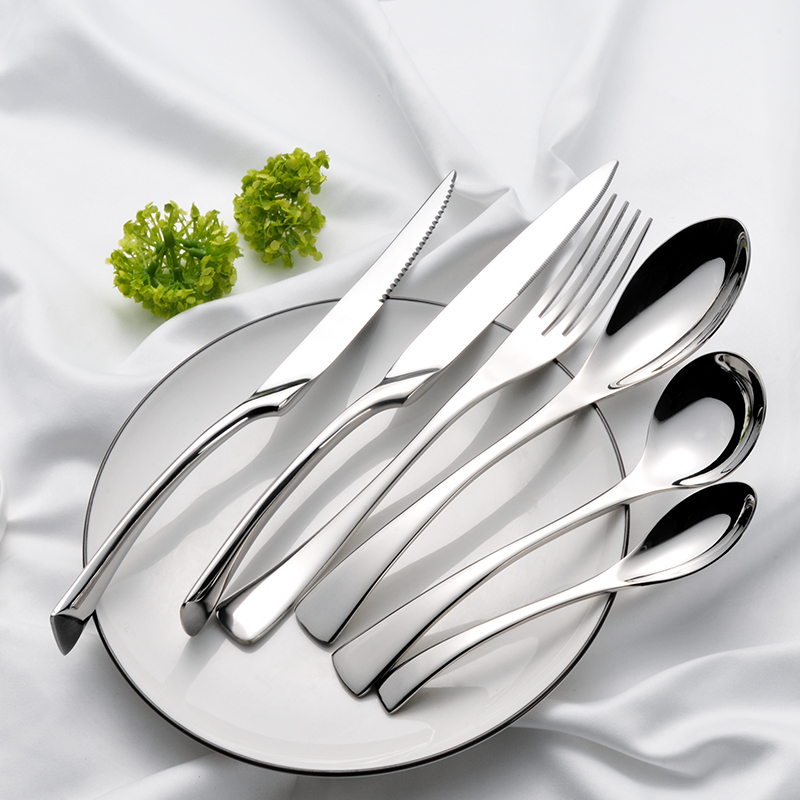 30%OFF Kaya Luxury Flatware Knife Fork Spoon Banquet Event Silver Mirror Elegant Hotel Wedding Stainless Steel Metal Cutlery <strong>Set</strong>
