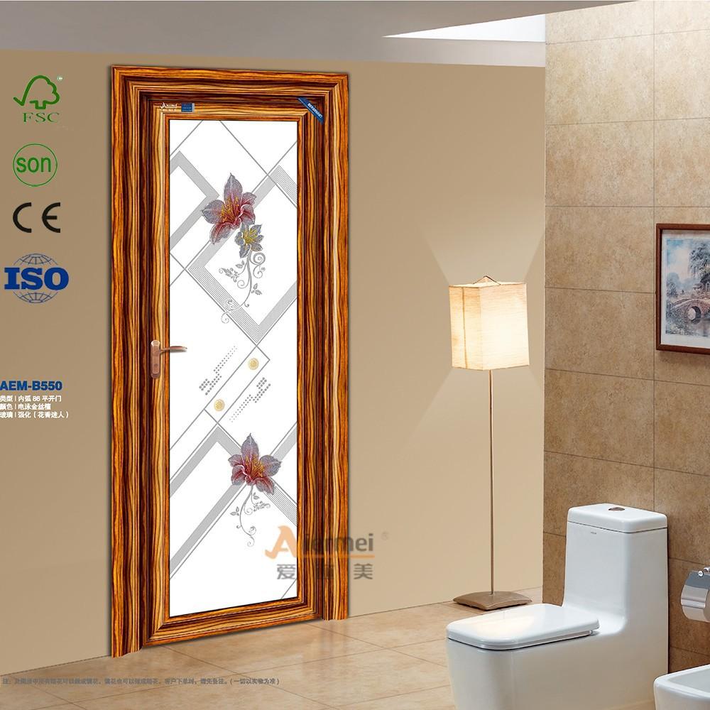 Puerta de aluminio puertas interiores modernos para ba o - Puerta corrediza para bano ...