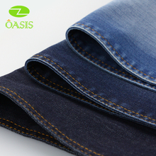 Cotton spandex wax denim fabric for jeans and jacket