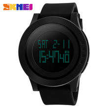 ** SKMEI品牌時尚LED防水男士運動矽膠手錶
